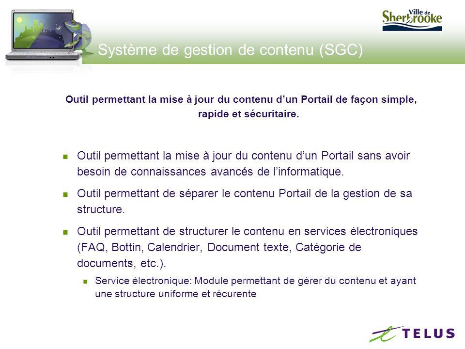 Système de gestion de contenu (SGC) Outil permettant de garder l'historique d'un contenu.