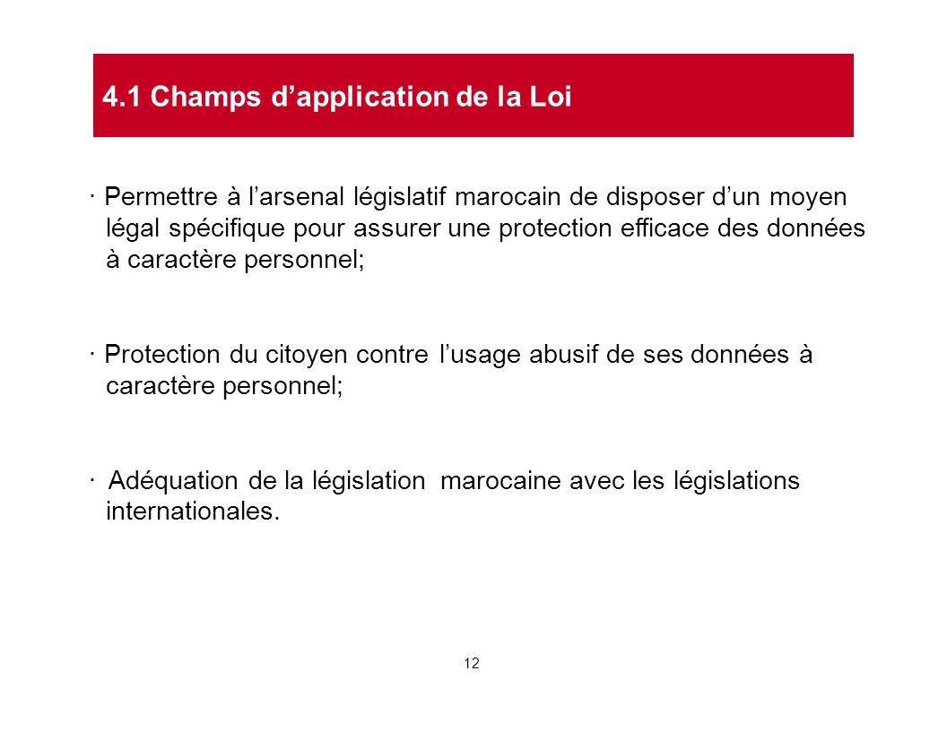 · Permettre à l'arsenal législatif marocain de disposer d'un moyen légal spécifique pour assurer une protection efficace des données à caractère perso