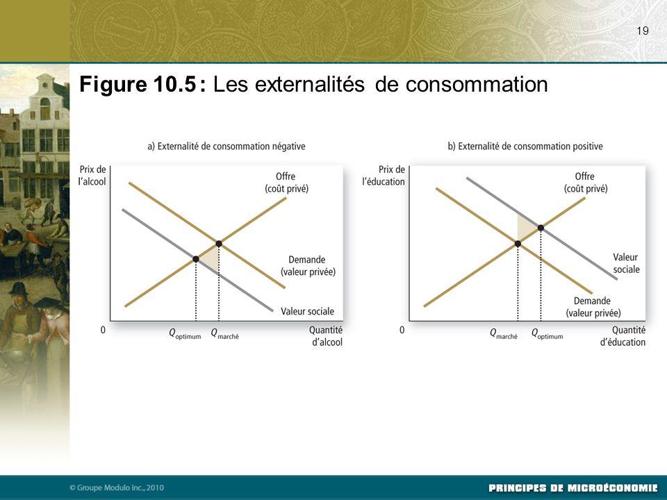 Figure 10.5 : Les externalités de consommation 19