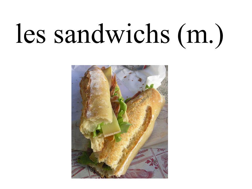 les sandwichs (m.)