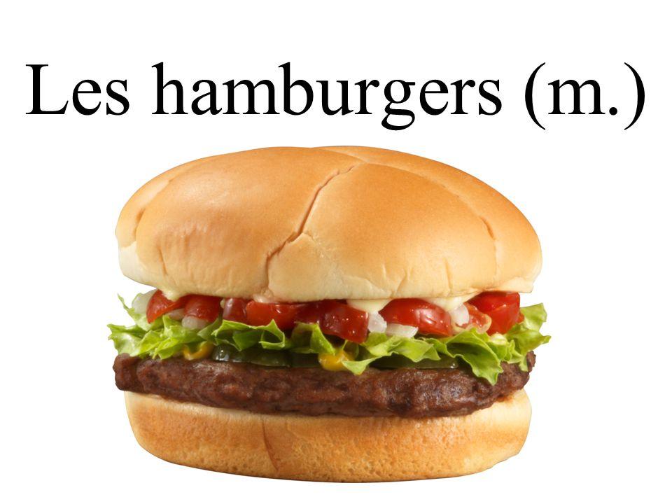 Les hamburgers (m.)