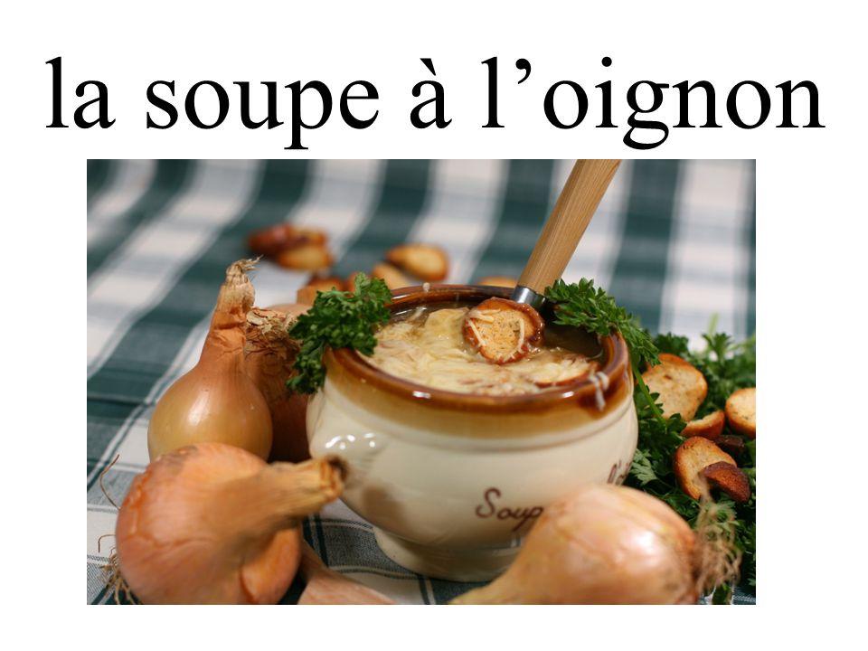 la soupe à l'oignon