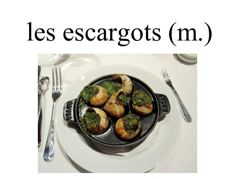 les escargots (m.)