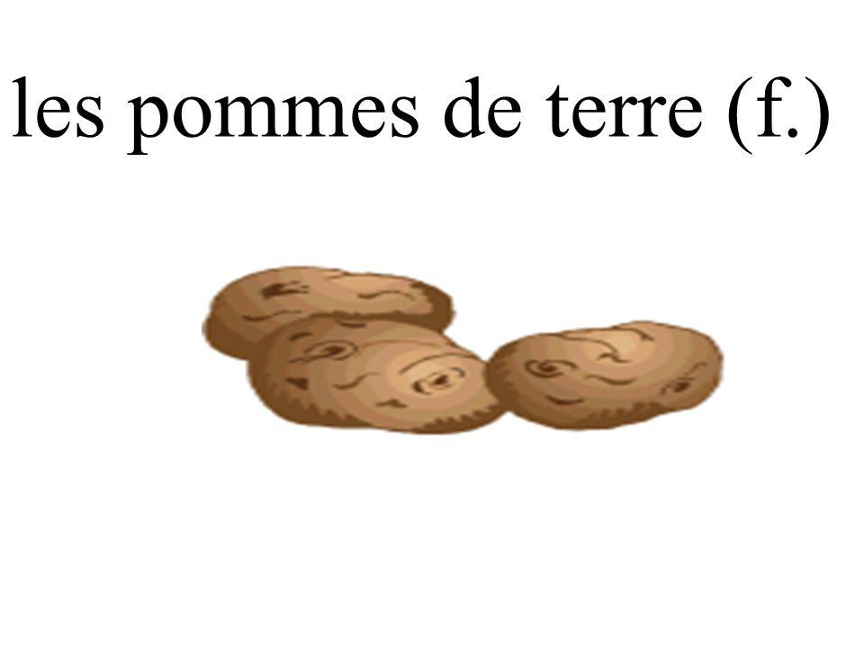 les pommes de terre (f.)