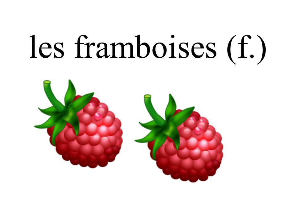 les framboises (f.)
