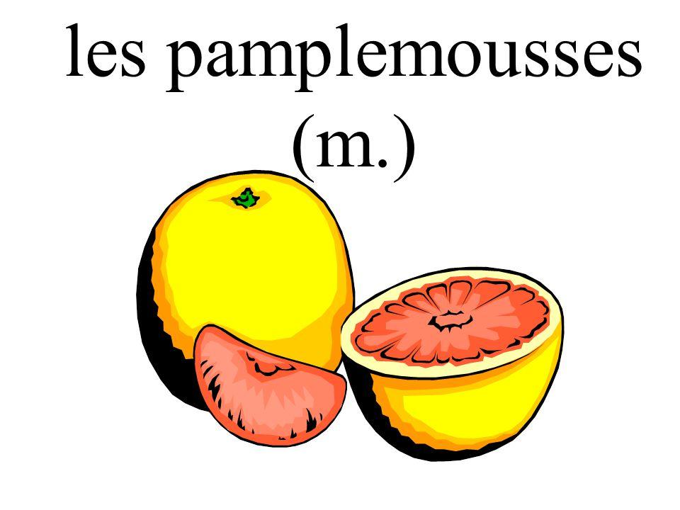 les pamplemousses (m.)