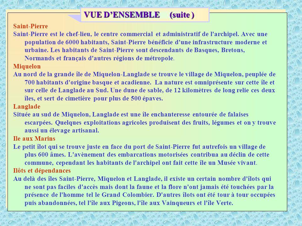 Saint-Pierre Saint-Pierre est le chef-lieu, le centre commercial et administratif de l archipel.