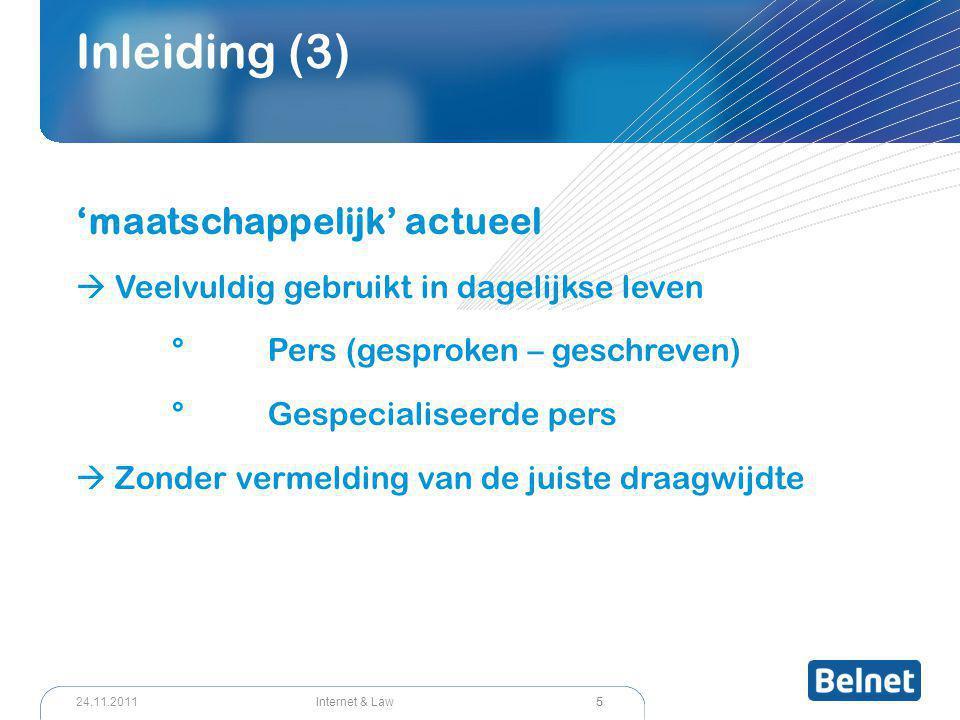 36 Internet & Law24.11.2011 Cloud Computing (7) Volledige contractsvrijheid .