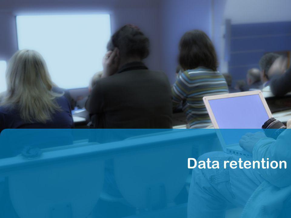 28 Internet & Law24.11.2011 Data retention (22) Un certain optimisme .
