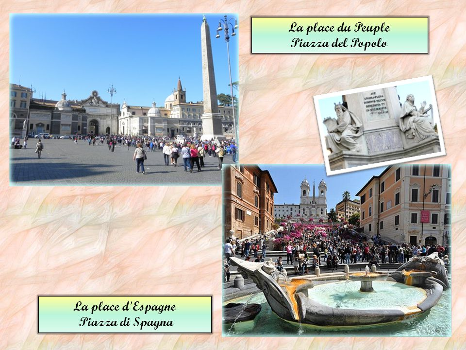 Ses belles places La place Navone - Piazza Navona Située en plein cœur historique de la ville, la place Navone est l'une des places les plus connues d