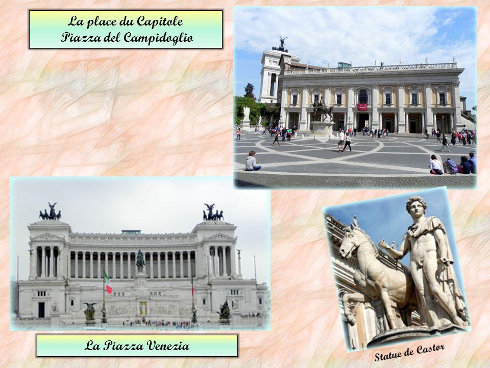 La place du Peuple Piazza del Popolo La place d'Espagne Piazza di Spagna