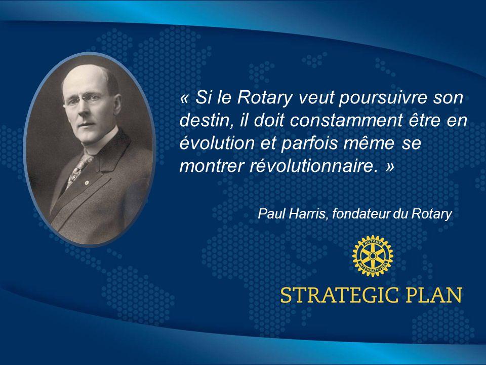 Click to edit Master title style « Si le Rotary veut poursuivre son destin, il doit constamment être en évolution et parfois même se montrer révolutionnaire.