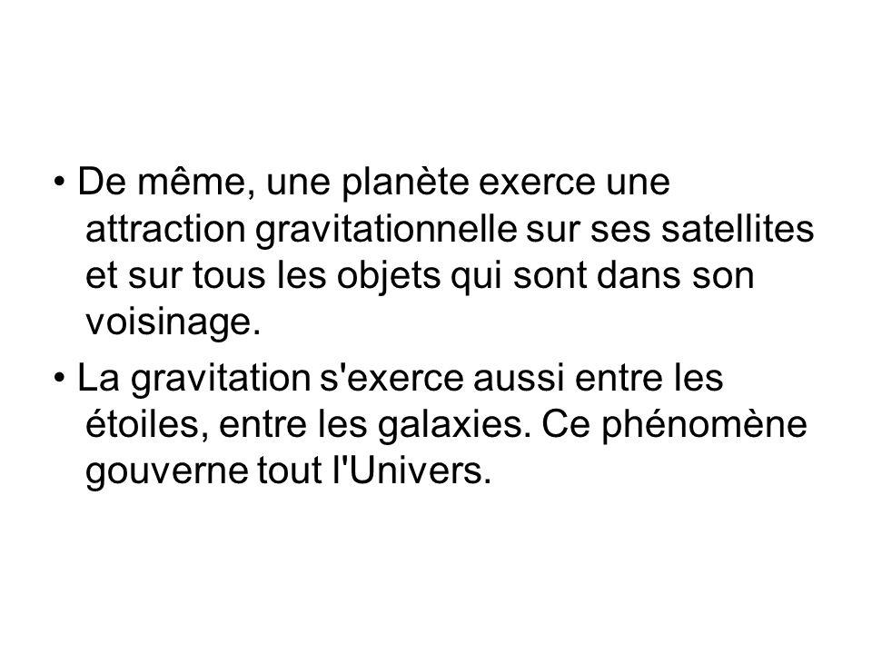 2) La gravitation (suite) Un objet A de masse m exerce une action attractive à distance sur un objet B de masse m .
