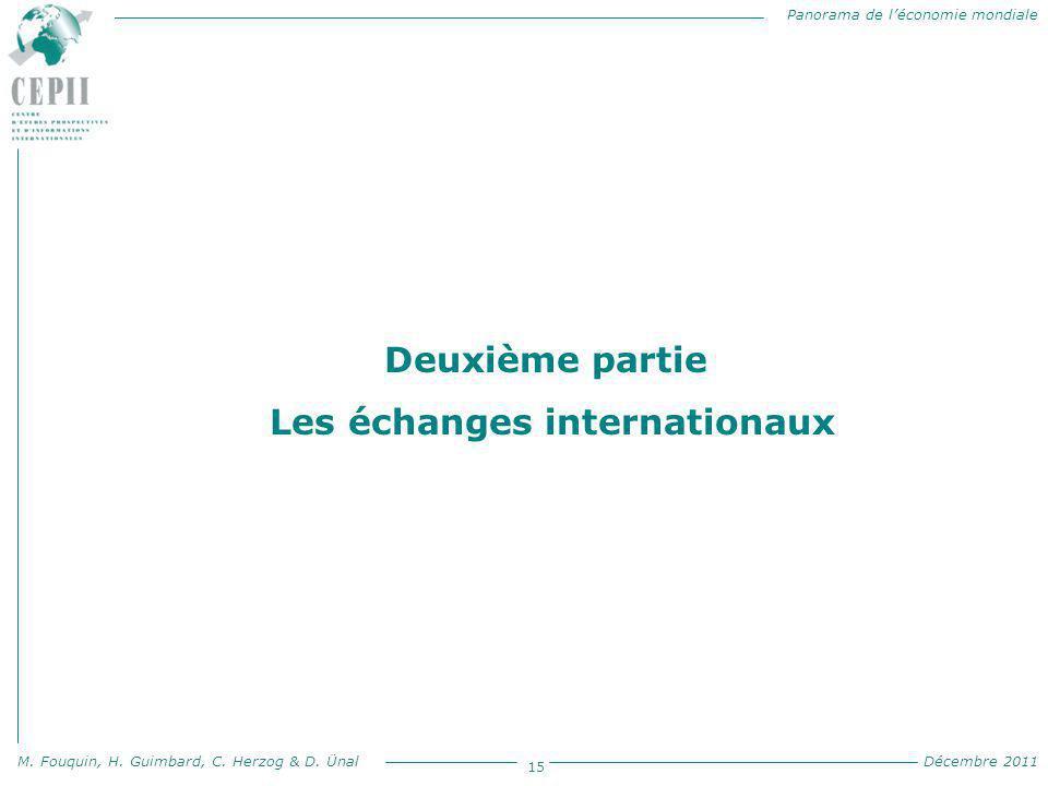 Panorama de l'économie mondiale M. Fouquin, H. Guimbard, C. Herzog & D. Ünal Décembre 2011 15 Deuxième partie Les échanges internationaux