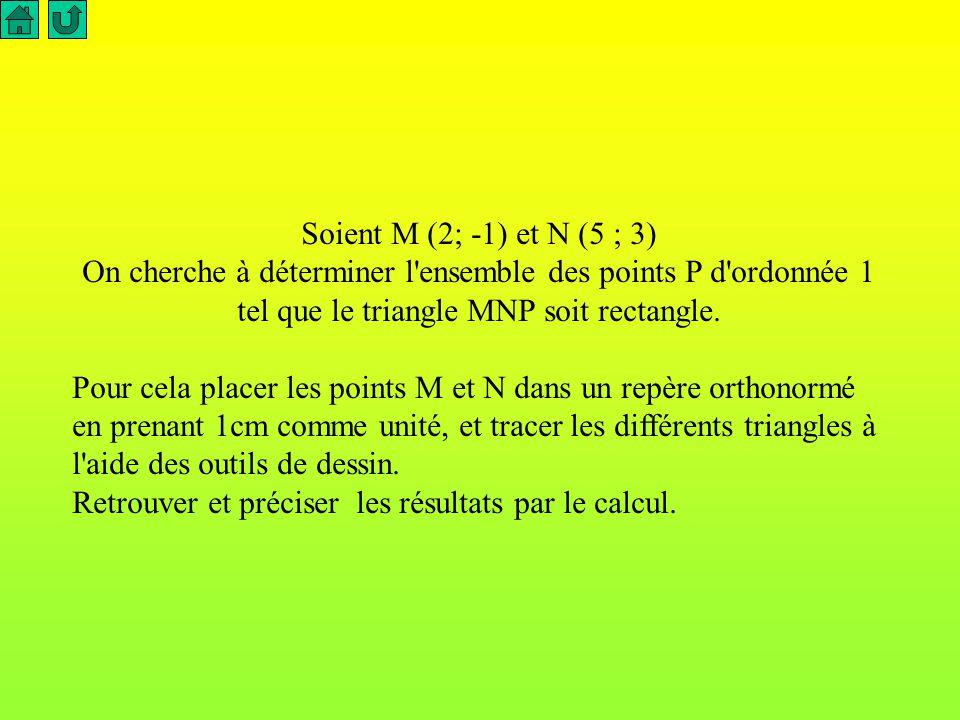 La distance entre A et B est donnée par la formule A retenir dans un repère orthonormé AB =