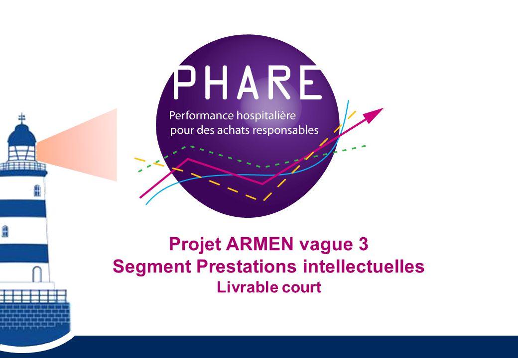 Projet ARMEN vague 3 Segment Prestations intellectuelles Livrable court