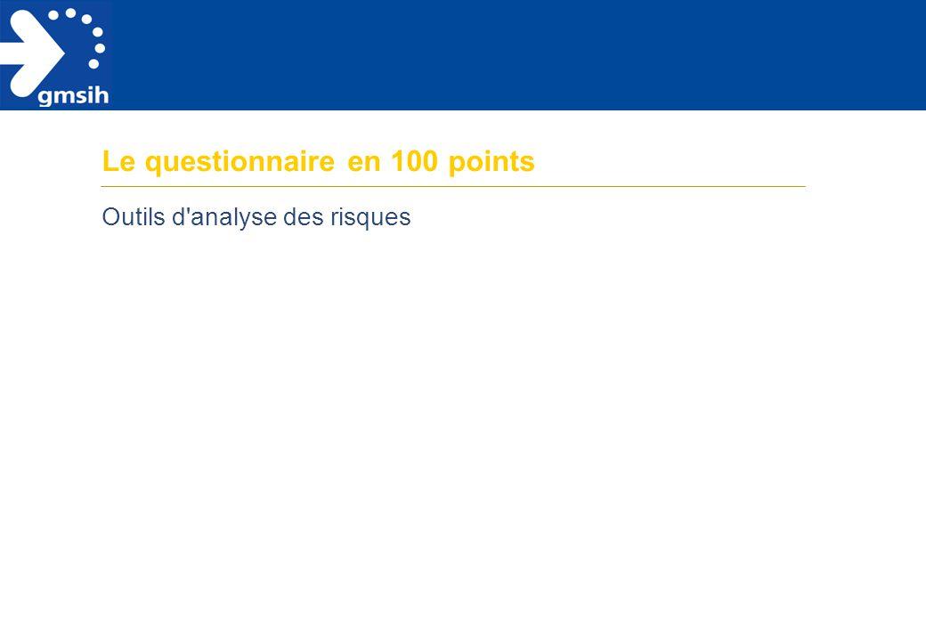 2 Sommaire Présentation de l'outil p.1 Le questionnaire en 100 points p.5 Traiter les réponses et exploiter l'analyse p.16