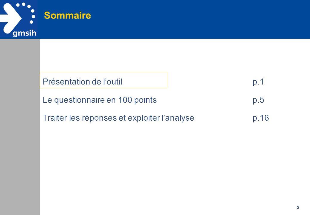 3 A quoi sert le Questionnaire / 100 points .