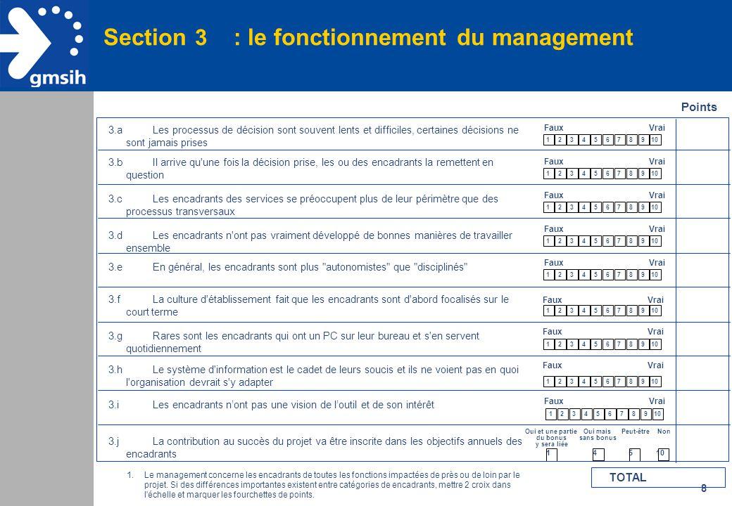 8 Section 3 : le fonctionnement du management Points 3.aLes processus de décision sont souvent lents et difficiles, certaines décisions ne sont jamais