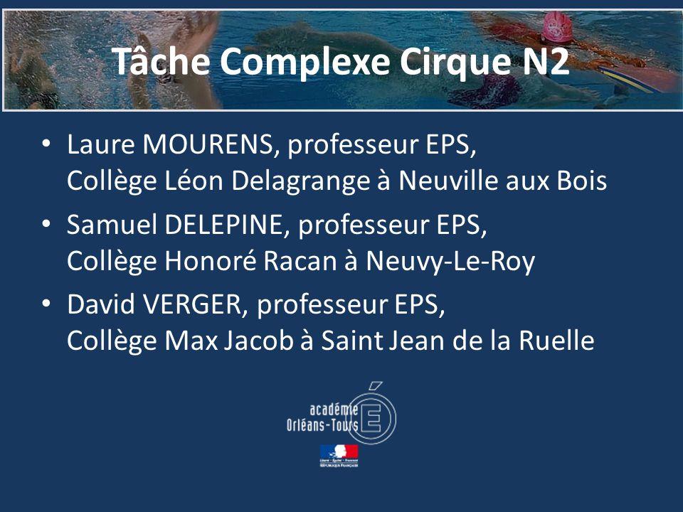 Tâche Complexe Cirque N2 Laure MOURENS, professeur EPS, Collège Léon Delagrange à Neuville aux Bois Samuel DELEPINE, professeur EPS, Collège Honoré Ra
