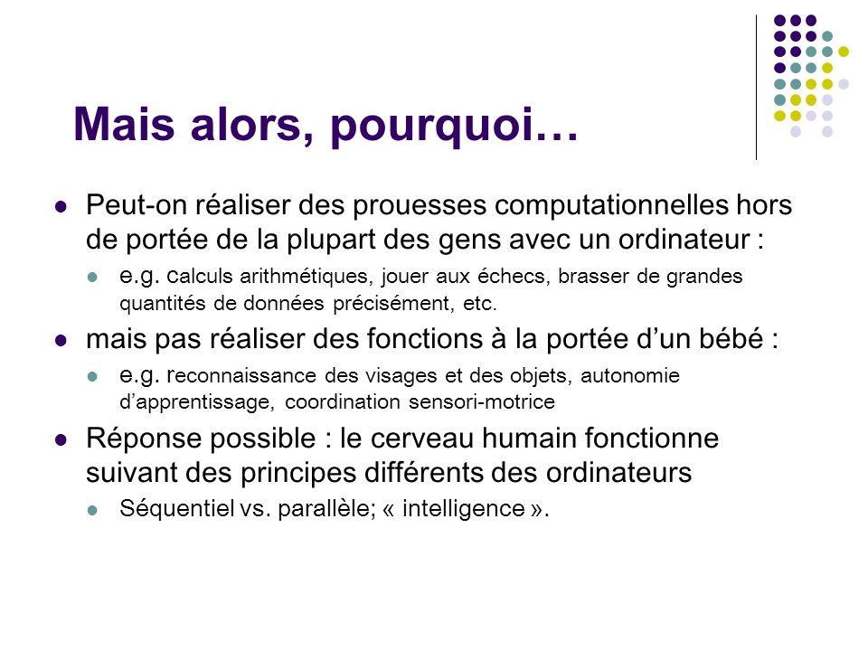 IA classique Descartes : Cogito, ergo sum (c.à.d.