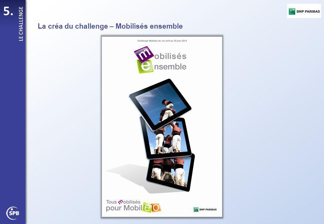 5. PISTE 1 LE CHALLENGE La créa du challenge – Mobilisés ensemble