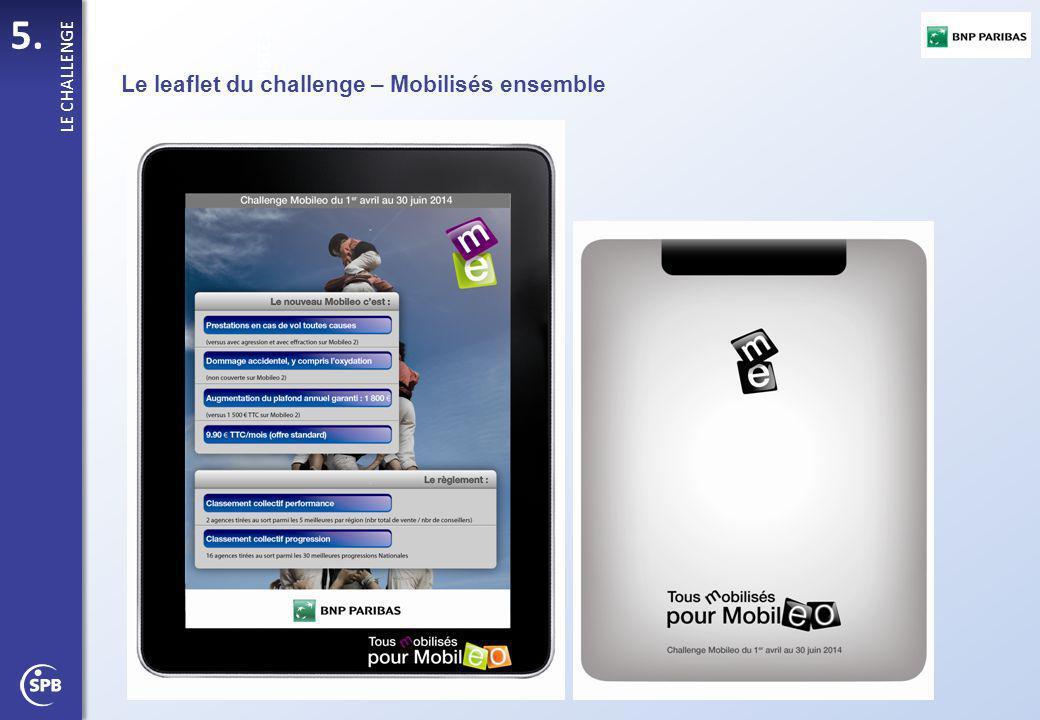 5. PISTE 1 LE CHALLENGE Le leaflet du challenge – Mobilisés ensemble