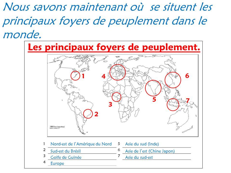 À vous de jouer avec les pays suivants : Rappel : il faut faire Population ÷ superficie puis il faut arrondir aux dixièmes.