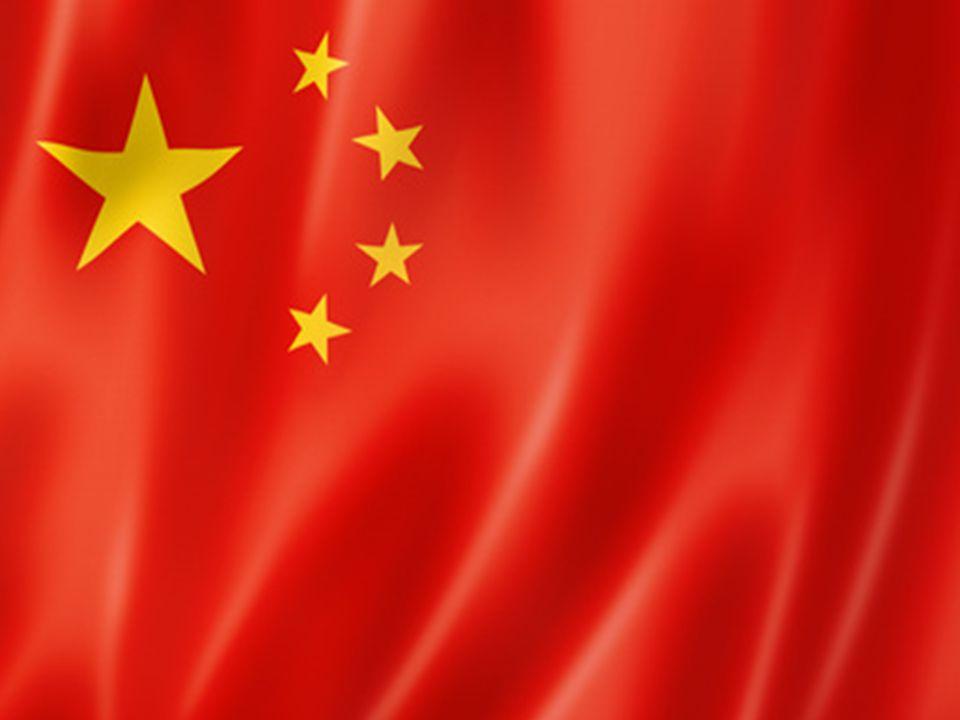  Le drapeau de la République populaire de Chine est un champ rouge qui contient cinq étoiles à cinq branches dorées dans un coin supérieur gauche. 