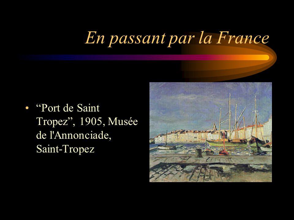 """En passant par la France """"Port de Saint Tropez"""", 1905, Musée de l'Annonciade, Saint-Tropez"""