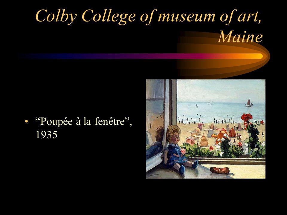 """Colby College of museum of art, Maine """"Poupée à la fenêtre"""", 1935"""