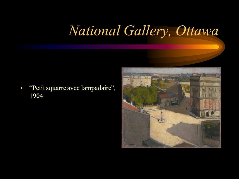 "National Gallery, Ottawa ""Petit squarre avec lampadaire"", 1904"