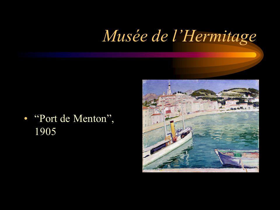 """Musée de l'Hermitage """"Port de Menton"""", 1905"""