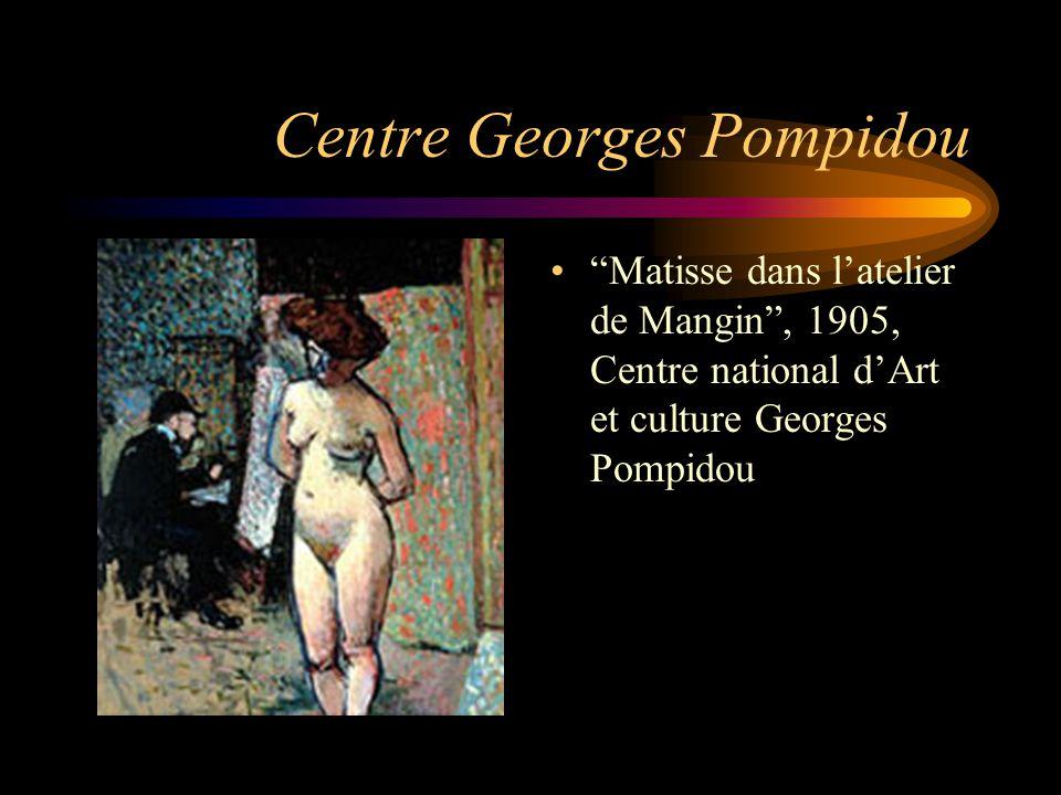 """Centre Georges Pompidou """"Matisse dans l'atelier de Mangin"""", 1905, Centre national d'Art et culture Georges Pompidou"""