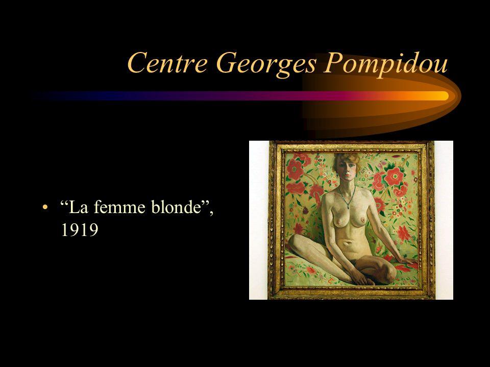 """Centre Georges Pompidou """"La femme blonde"""", 1919"""