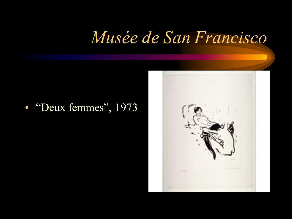 """Musée de San Francisco """"Deux femmes"""", 1973"""