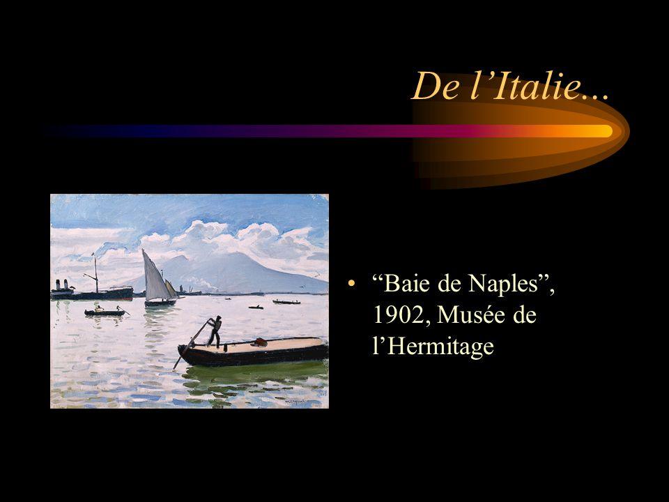 """De l'Italie... """"Baie de Naples"""", 1902, Musée de l'Hermitage"""