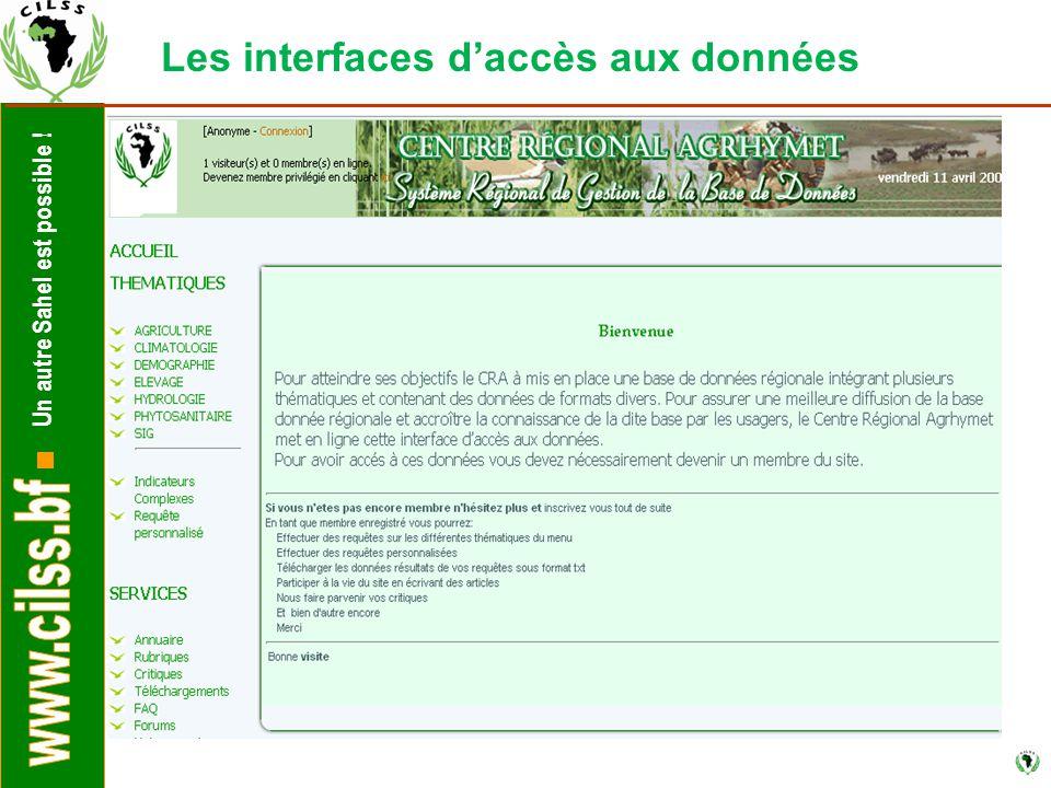Un autre Sahel est possible ! Les interfaces d'accès aux données