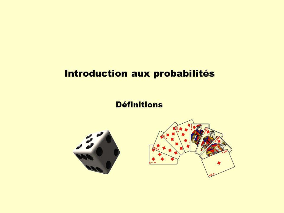 Introduction aux probabilités Définitions