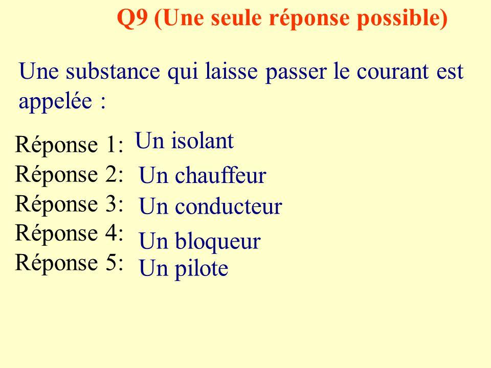 Q8 (plusieurs réponses possibles) Quelles sont les bonnes manières d'allumer une lampe?