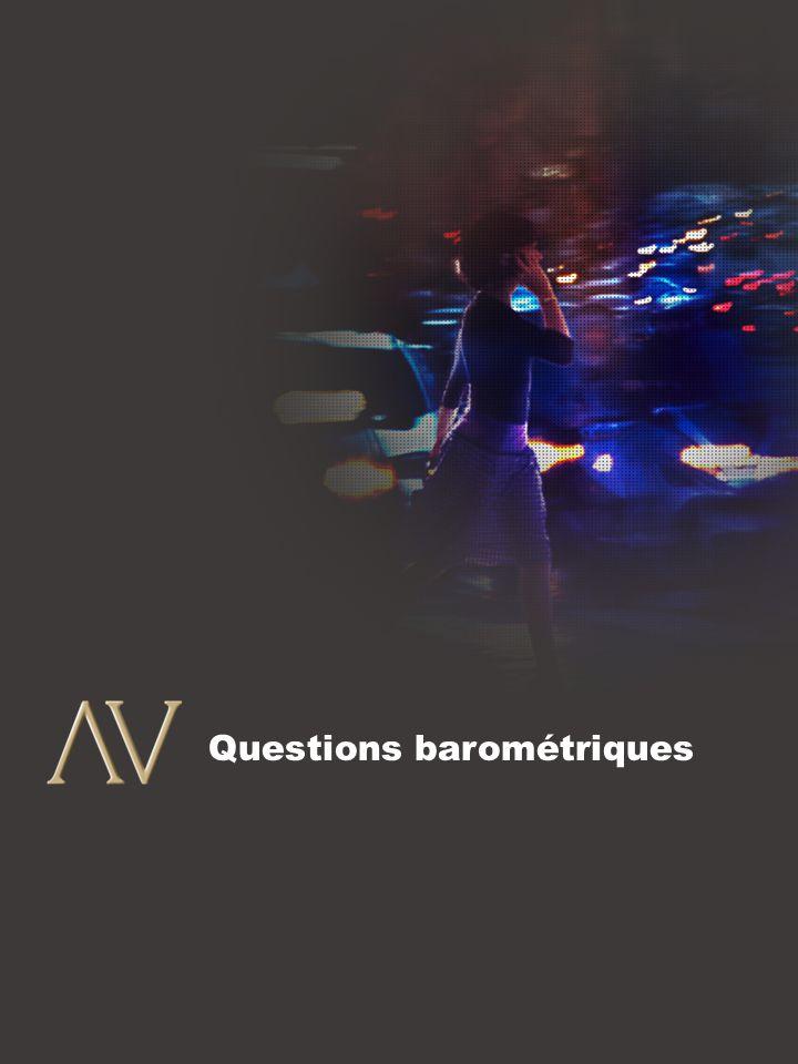4 Questions barométriques