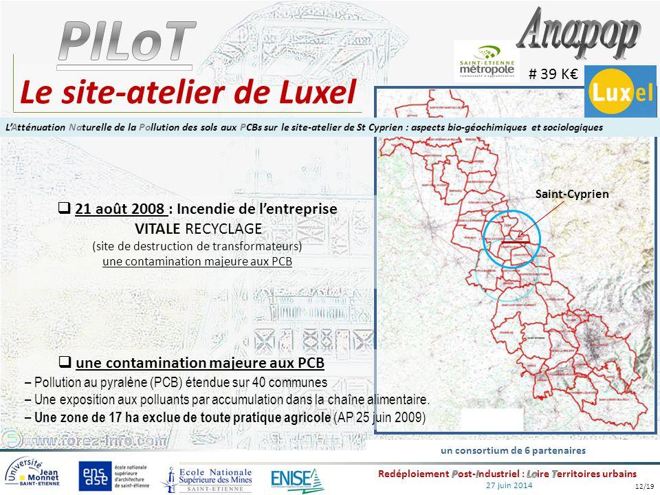 27 juin 2014 Le site-atelier de Luxel  21 août 2008 : Incendie de l'entreprise VITALE RECYCLAGE (site de destruction de transformateurs) une contamin