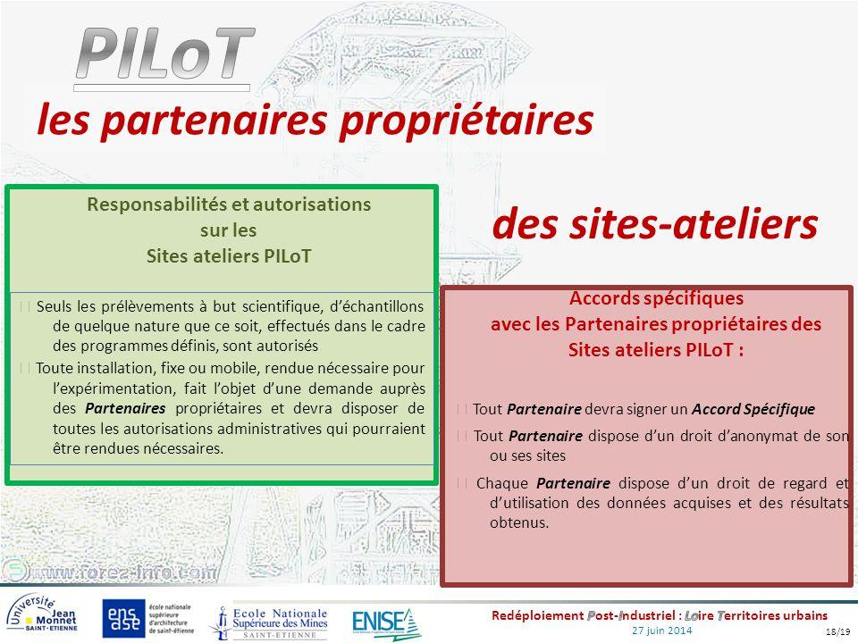 27 juin 2014 des sites-ateliers Tout Partenaire devra signer un Accord Spécifique Tout Partenaire dispose d'un droit d'anonymat de son ou ses sites Ch