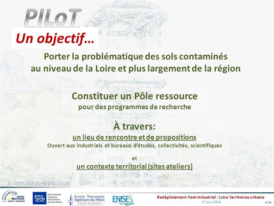 27 juin 2014 Un objectif… Constituer un Pôle ressource pour des programmes de recherche À travers: un lieu de rencontre et de propositions Ouvert aux