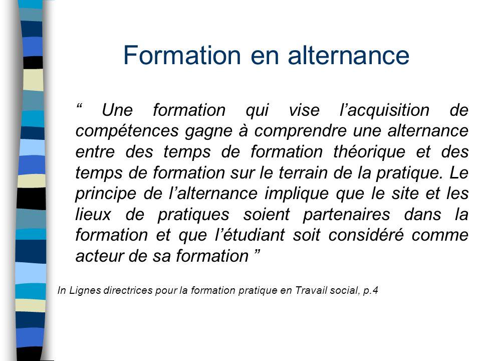 """Formation en alternance """" Une formation qui vise l'acquisition de compétences gagne à comprendre une alternance entre des temps de formation théorique"""