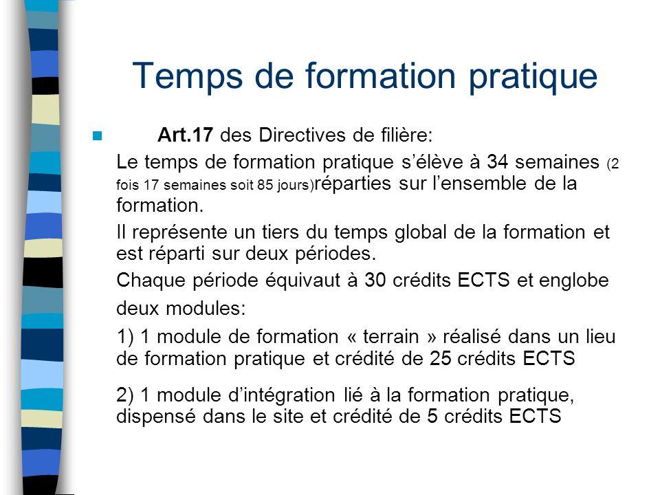 Deux périodes de formation pratique La première période appartient à la partie initiale de la formation bachelor, qui est centrée sur des apprentissages de ce qui est « Générique » à l'ensemble des champs du travail social.