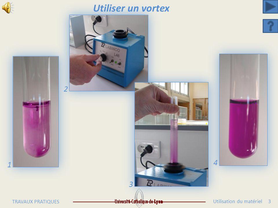 Utilisation du matériel 2 TRAVAUX PRATIQUES Réaliser une dilution en fiole jaugée 5 6 7 89
