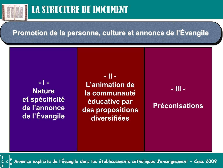Annonce explicite de l'Évangile dans les établissements catholiques d'enseignement - Cnec 2009 - III - Préconisations - II - L'animation de la communa