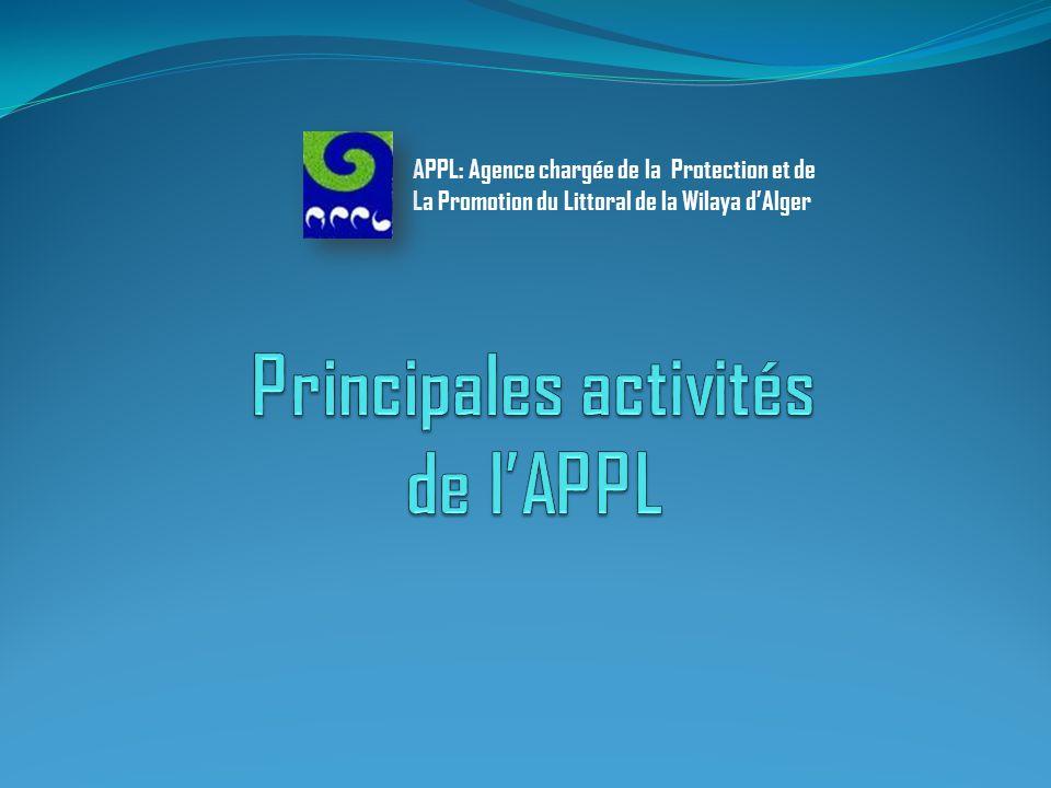 Introduction Les actions menées par l'APPL pour la période allant de 1998 à 2012 sont décrites ci- après en respect des missions statutaires de l'établissement.