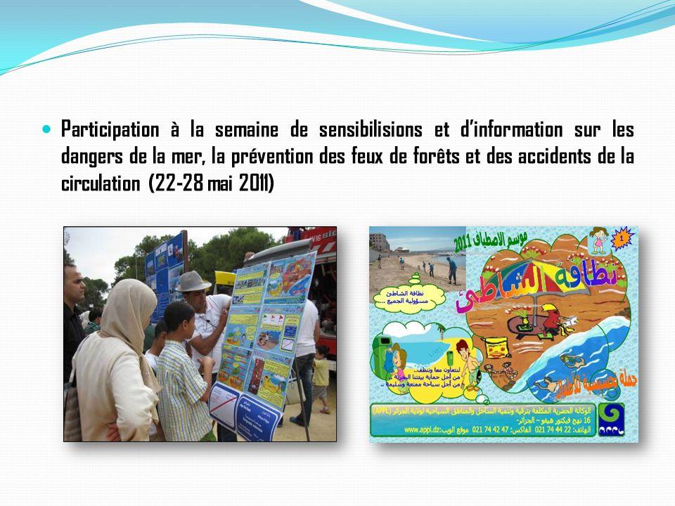 Participation à la semaine de sensibilisions et d'information sur les dangers de la mer, la prévention des feux de forêts et des accidents de la circu